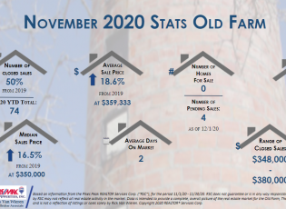 Real estate stats november 2020 Old Farm